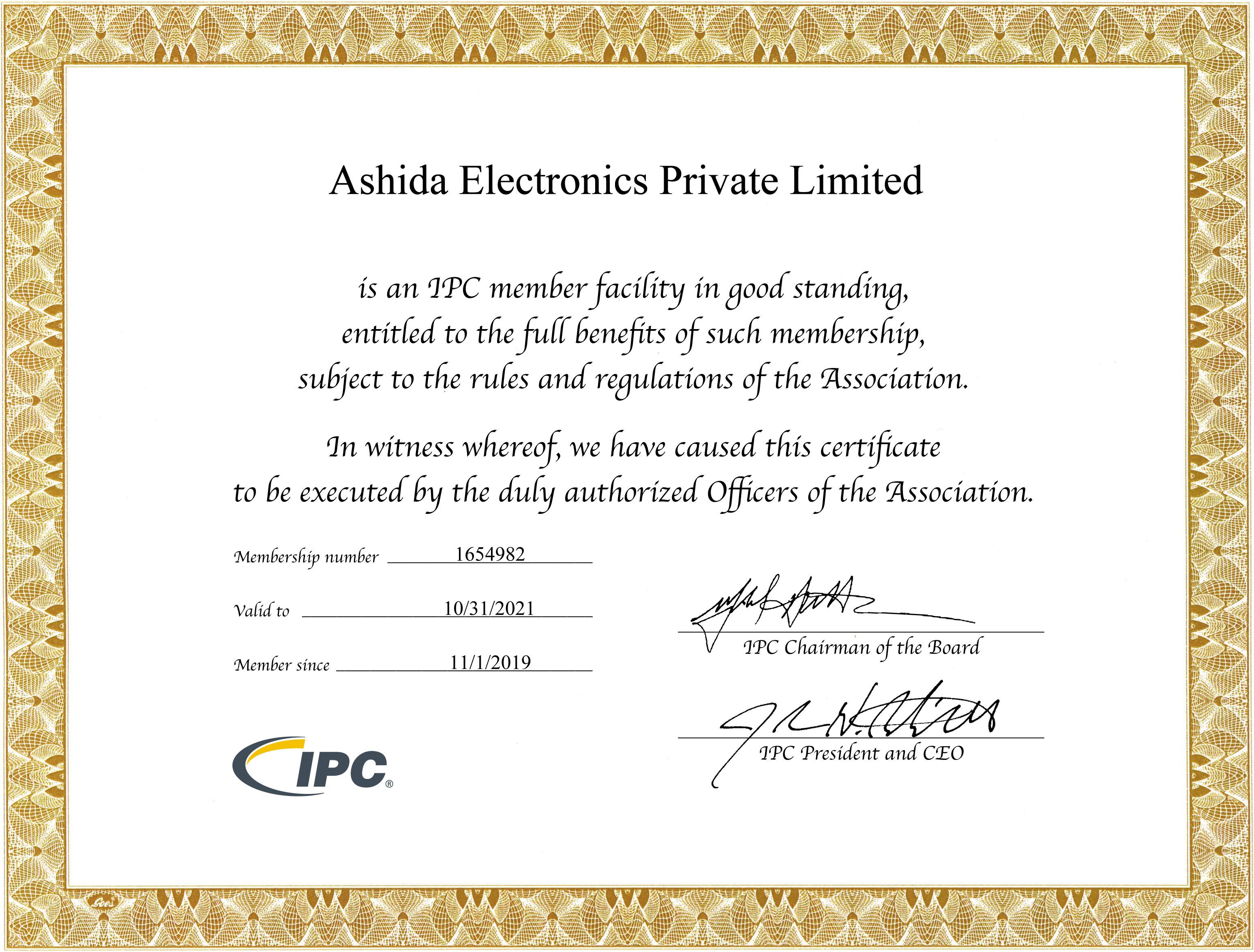 IPC-MemberShip-Certificate